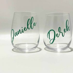 Customised Stemless Wine Glasses Tumblers