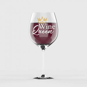 Wine Queen Customised Wine Glass
