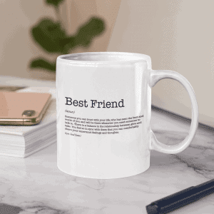 Best Friend Dictionary Definition Mug