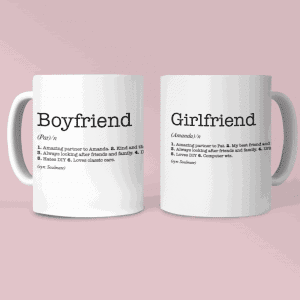 Boyfriend & Girlfriend Dictionary Definition Mugs Set