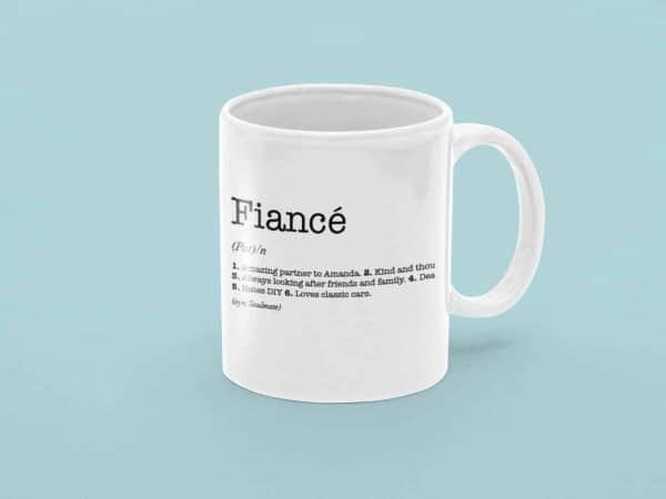 Fiancé Dictionary Definition Mug