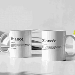 Fiancée & Fiancé Dictionary Definition Mug