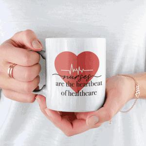 Nurses are the heartbeat of healthcare mug