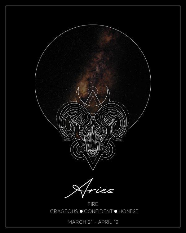 Aries Zodiac Print