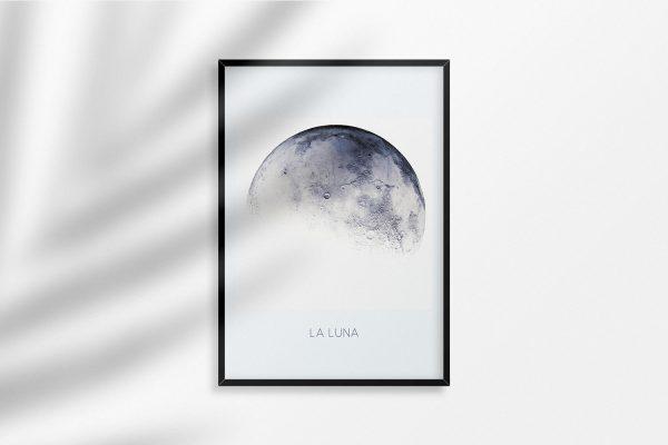 La Luna Moon Art Print Poster