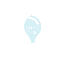 CREATIVE GENIUS LOGO WHITE